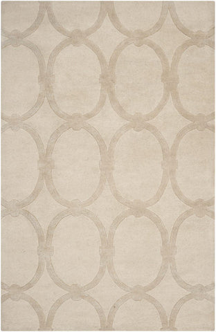 Eternity Rug in Light Khaki - Yarn and Loom Rugs