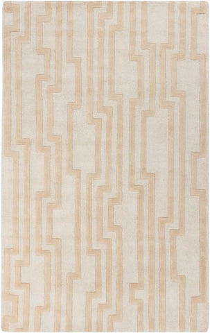 Velocity Rug in Beige and White - Yarn and Loom Rugs