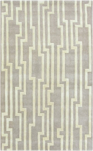 Velocity Rug in Grey and Cream - Yarn and Loom Rugs