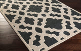 Regency Trellis Rug in Black, Parchment and Cream
