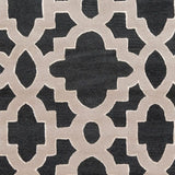 Regency Trellis Rug in Black, Parchment and Cream - Yarn and Loom Rugs