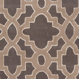 Regency Trellis Rug in Dark Grey, Medium Grey and Cream - Yarn and Loom Rugs