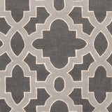 Regency Trellis Rug in Charcoal Grey, Medium Grey and Cream