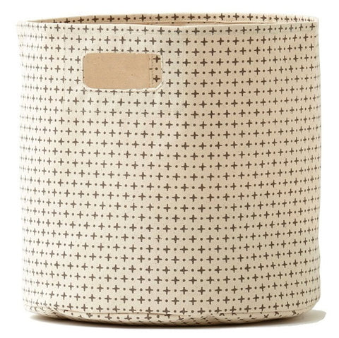 Pehr Designs Cross Dots Storage Container in Grey - Yarn and Loom Rugs