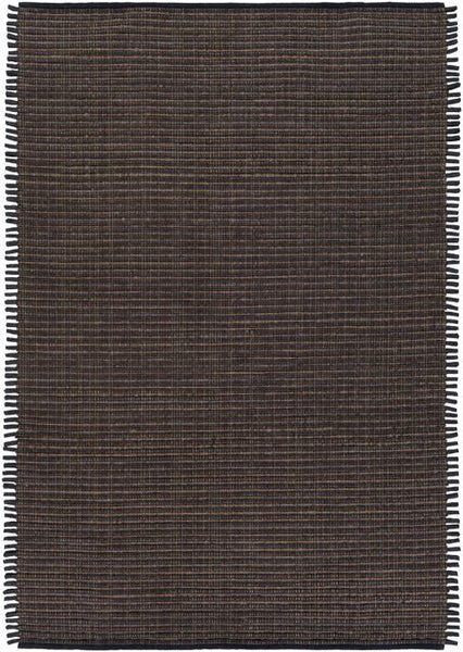 Silverton Rug in Black and Dark Brown