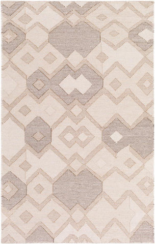 Durban Flatweave Rug in Cream, Tan and Dark Brown - Yarn and Loom Rugs
