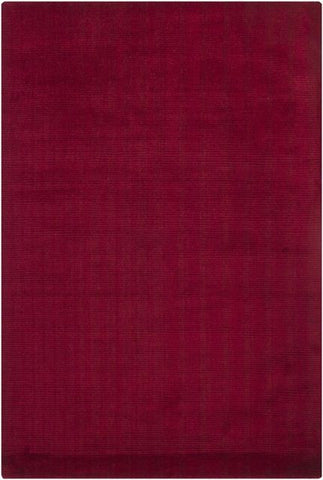 Corduroy Rug in Burgundy Red - Yarn and Loom Rugs