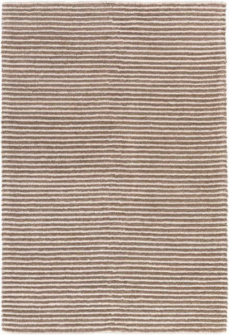 Hemlock Textured Rug in Tan and Cream - Yarn and Loom Rugs
