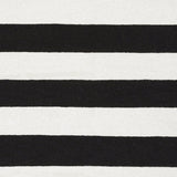 Flatweave Striped Rug in Black and White - Yarn and Loom Rugs