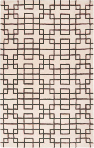 Circuit Rug in Ivory and Steel Grey - Yarn and Loom Rugs