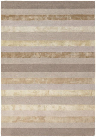Luxe Stripe Rug in Cream - Yarn and Loom Rugs
