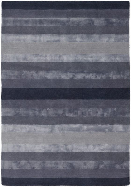Luxe Stripe Rug in Charcoal Grey - Yarn and Loom Rugs