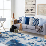 Andaman Watercolour Rug in Denim - Yarn and Loom Rugs