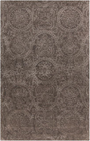 Mehndi Rug in Ash Grey and Taupe - Yarn and Loom Rugs