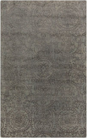 Mehndi Rug in Sea Foam Green and Grey - Yarn and Loom Rugs