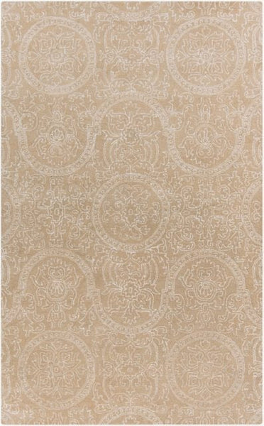 Mehndi Rug in Pebble Beige - Yarn and Loom Rugs