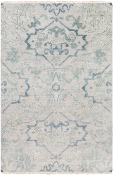 Mosman Hand Knotted Wool Rug in Blue - Yarn and Loom Rugs