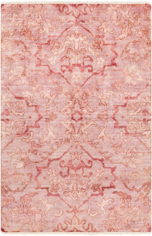 Mosman Hand Knotted Wool Rug in Pale Pink - Yarn and Loom Rugs