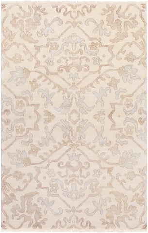 Mosman Hand Knotted Wool Rug in Taupe