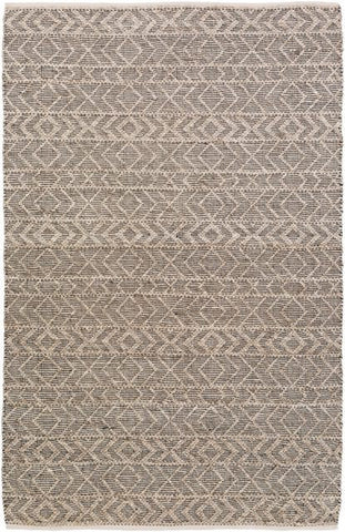 Orford Textured Rug in Taupe, Ivory and Black