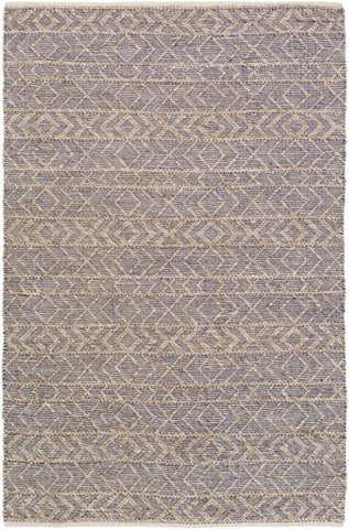 Orford Textured Rug in Taupe, Ivory and Dark Blue