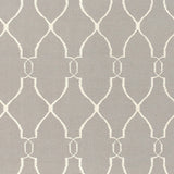 Interwoven Trellis Flatweave Rug in Taupe and Beige