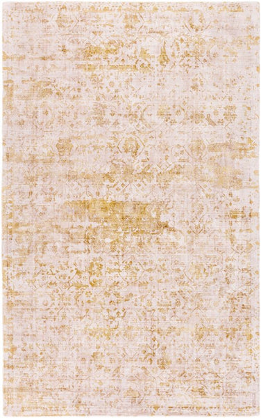 Bowral Rug in Mustard and Taupe - Yarn and Loom Rugs