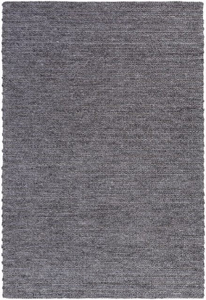 Bellinger Textured Flat Weave Rug in Dark Grey - Yarn and Loom Rugs