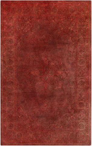 Antique Wash Overdyed Rug in Faded Rose, Pale Pink and Marsala - Yarn and Loom Rugs