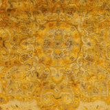 Antique Wash Overdyed Rug in Bright Yellow, Mustard, Beige and Camel - Yarn and Loom Rugs