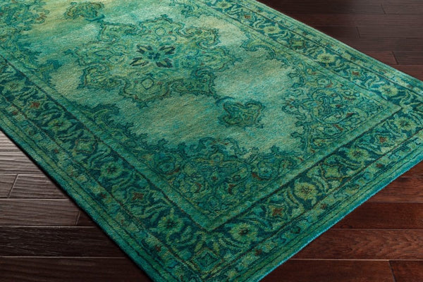 Overdyed Emerald Green Wool Rug Yarn Amp Loom Rugs