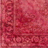 Overdyed Rug in Rose, Pale Pink and Garnet