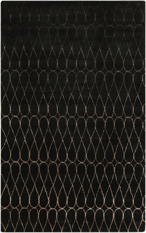 Infinity Rug in Charcoal and Taupe - Yarn and Loom Rugs
