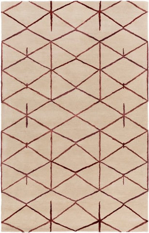 Constellation Rug in Deep Red - Yarn and Loom Rugs