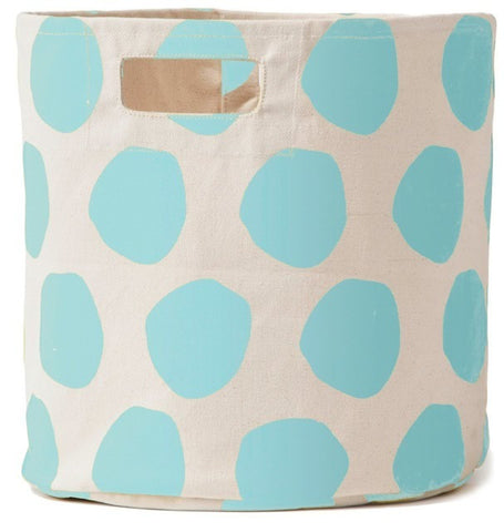 Pehr Designs Poka Storage Container in Sky Blue - Yarn and Loom Rugs