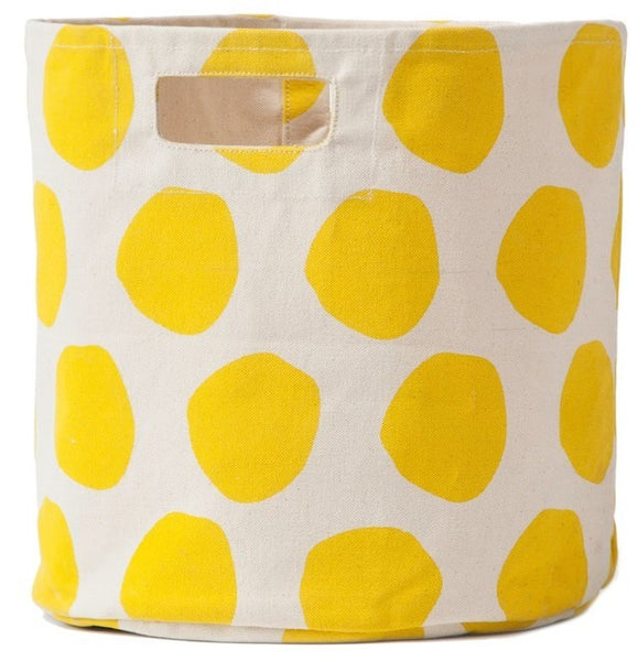Pehr Designs Poka Storage Container in Yellow - Yarn and Loom Rugs