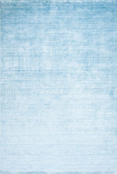 Pure Bamboo and Cotton Rug in Pastel Blue - Yarn and Loom Rugs