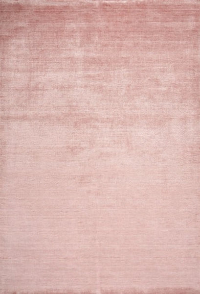 Pure Bamboo and Cotton Rug in Pastel Pink - Yarn and Loom Rugs