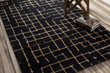 Verkko Rug in Charcoal Grey and Mocha - Yarn and Loom Rugs