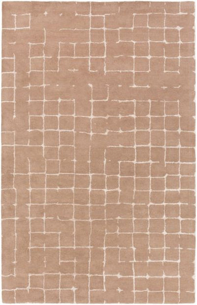 Verkko Rug in Taupe and Light Grey - Yarn and Loom Rugs