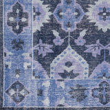 Pazarh Antique Finish Turkish Rug in Navy and Cobalt Blue - Yarn and Loom Rugs