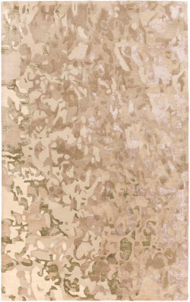 Aquarelle Rug in Taupe and Olive Green - Yarn and Loom Rugs