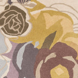 Brookfield Floral Rug in Multi-Colour in Soft Tones - Yarn and Loom Rugs