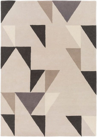 Axis Rug in Grey, Black and Beige - Yarn and Loom Rugs