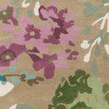 Brookfield Floral Rug in Multi-Colour Teal - Yarn and Loom Rugs