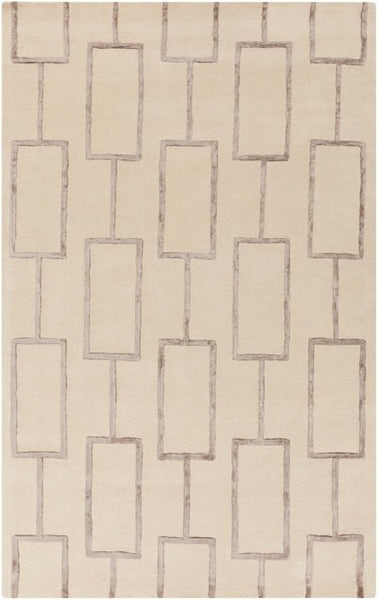 City Rug in Dark Ivory and Charcoal Grey - Yarn and Loom Rugs