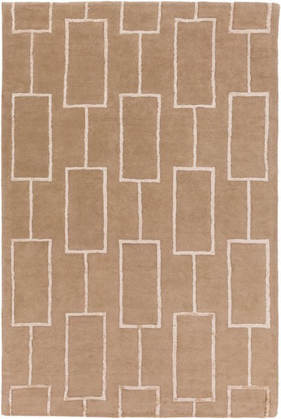 City Rug in Taupe and Beige - Yarn and Loom Rugs