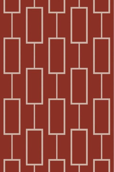 City Rug in Red and Taupe - Yarn and Loom Rugs