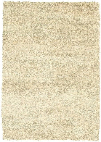 Modern Wool Shag Rug in Ivory - Yarn and Loom Rugs