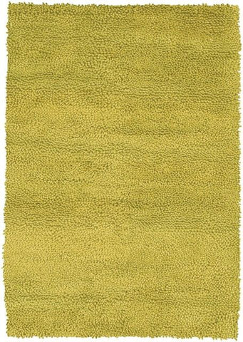 Modern Wool Shag Rug in Bright Green - Yarn and Loom Rugs